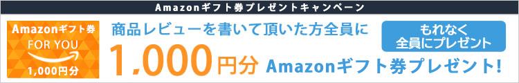 1000円分Amazonポイントプレゼント