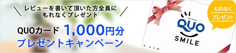 QUOカード1000円分プレゼントキャンペーン